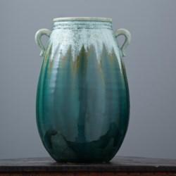 "Tozai Majorca Dripped Glaze Ceramic Vase - 16"" High"
