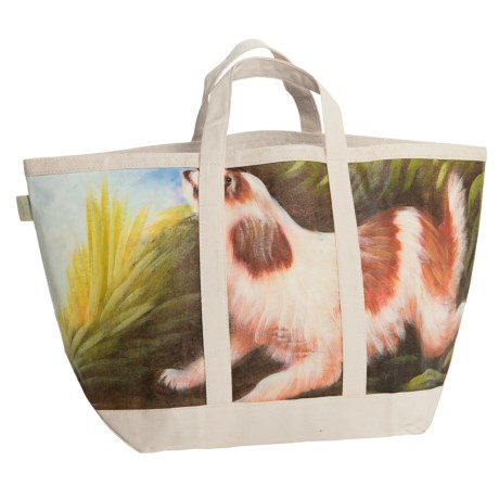 Tozai Studio Artist Hand-Painted Canvas Beach/Tote Bag
