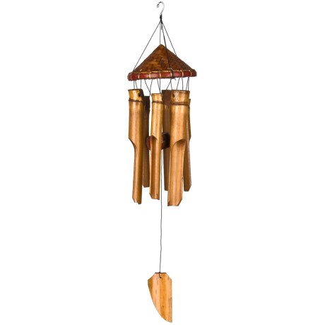"""Woodstock Chimes Woven Hat Wind Chime - 17"""""""
