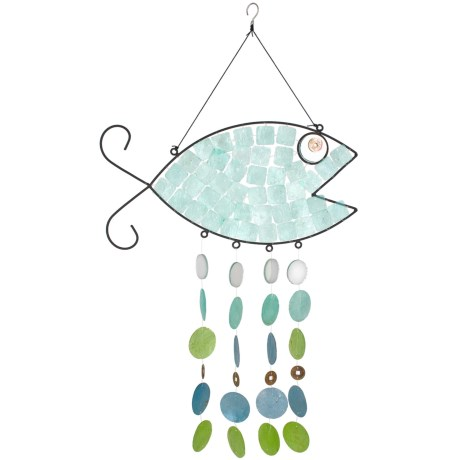 Woodstock Chimes Capiz Fish Wind Chime - 29""