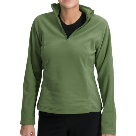 Specially made ThermaCheck 100 Fleece Pullover - Zip Neck, Long Sleeve (For Women)