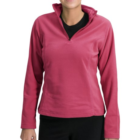 ThermaCheck 100 Fleece Pullover - Zip Neck, Long Sleeve (For Women)