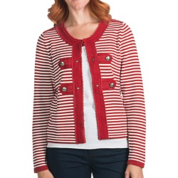FDJ French Dressing Stripe Cardigan Sweater (For Women)