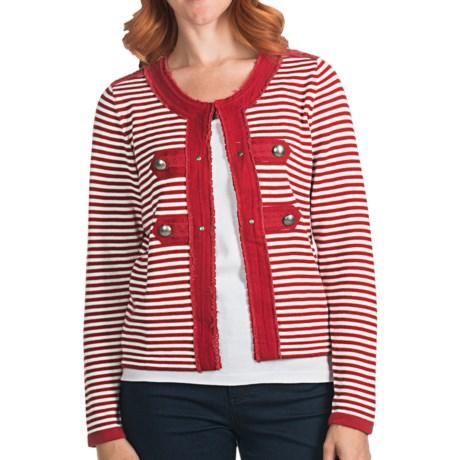 FDJ French Dressing Stripe Cardigan Sweater (For Women)