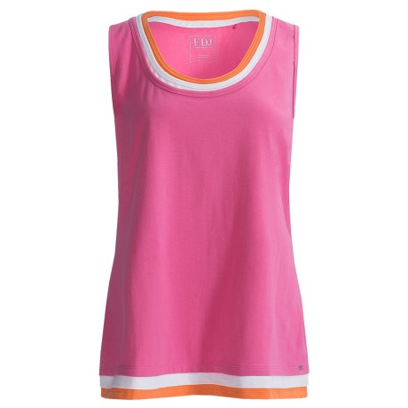 FDJ French Dressing Triple Fooler Tank Top (For Women)