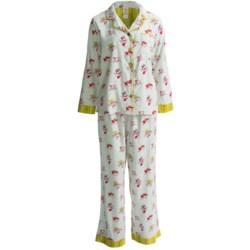 Munki Munki Classic Flannel Pajamas - Long Sleeve (For Women)