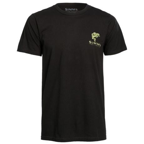 Simms Bass Camo T-Shirt - Short Sleeve (For Men)