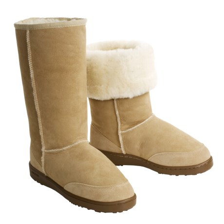Acorn Sheepskin Aussie Boot - Tall (For Women)