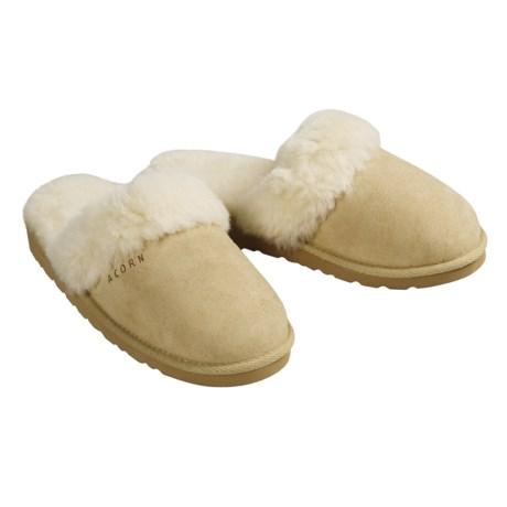 Acorn Spa Slip-Inn Slippers - Australian Sheepskin (For Women)