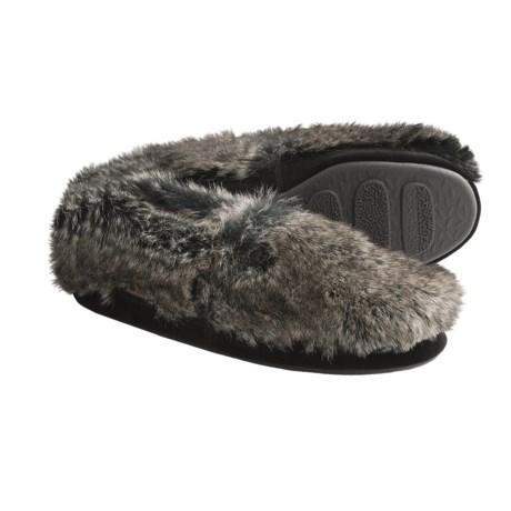Acorn Moc Slippers - Faux Fur (For Men)