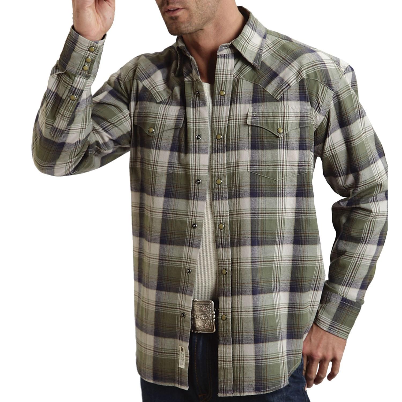 Stetson flannel plaid shirt for men 6419r save 52 for Long plaid flannel shirt