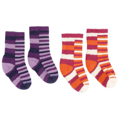 SmartWool Tots Split Stripe Socks - Merino Wool (For Toddlers)