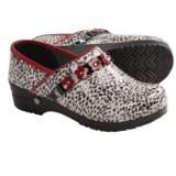 Sanita Koi Poppy Leopard Clogs - Closed Back (For Women)