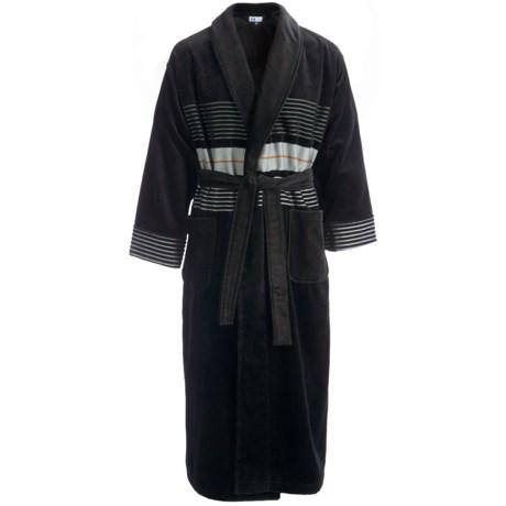 Majestic Tracks Robe - Cotton Velour, Long Sleeve (For Men)