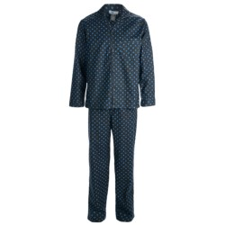 Majestic Cotton Flannel Printed Pajamas - Long Sleeve (For Men)