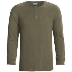 Majestic Sanded Cotton Henley Shirt - Long Sleeve (For Men)