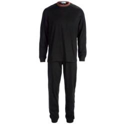 Majestic Knit Pajamas - Cotton, Long Sleeve (For Men)