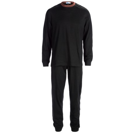 Majestic Knit Pajamas - Cotton, Long Sleeve (For Men)