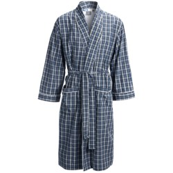 Majestic Grahams Shawl Robe - Cotton Broadcloth, Long Sleeve (For Men)