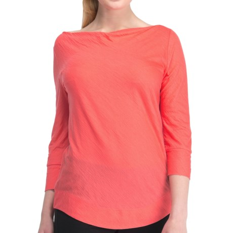 Icebreaker Willow Boat Neck Shirt - UPF 30+, Merino Wool, 3/4 Sleeve (For Women)