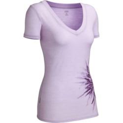Icebreaker SF150 Tech Chrysanthemum T-Shirt - UPF 30+, Merino Wool, Short Sleeve (For Women)