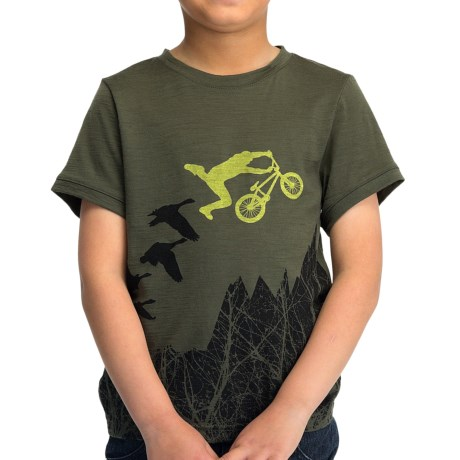 Icebreaker Tech Lite 150 Flyer T-Shirt - UPF 30+, Merino Wool, Short Sleeve (For Kids)