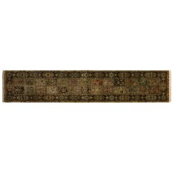"Kaleen Heritage Collection Floor Runner - Hand-Knotted Wool, 2'4""x12'"