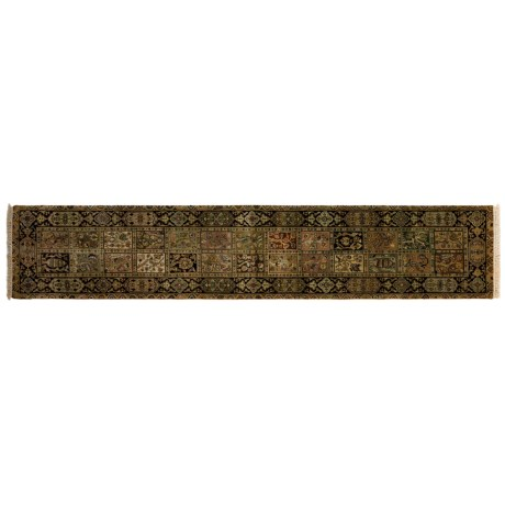 """Kaleen Heritage Collection Floor Runner - Hand-Knotted Wool, 2'4""""x12'"""