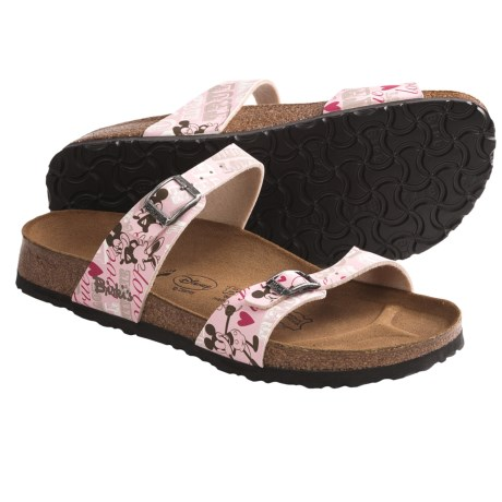 Birki's by Birkenstock Tahiti Sandals - Minnie True Love, Birko-flor® (For Women)