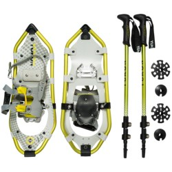 "Yukon Charlie's Pro Guide V Snowshoes Kit - 21"" Snowshoes, Poles, Bag (For Women)"