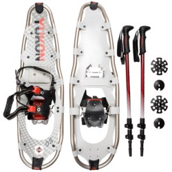 "Yukon Charlie's Pro Guide V Snowshoes Kit - 30"" Snowshoes, Poles, Bag"