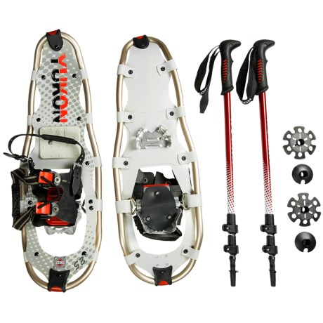"Yukon Charlie's Pro Guide V Snowshoes Kit - 25"" Snowshoes, Poles, Bag"
