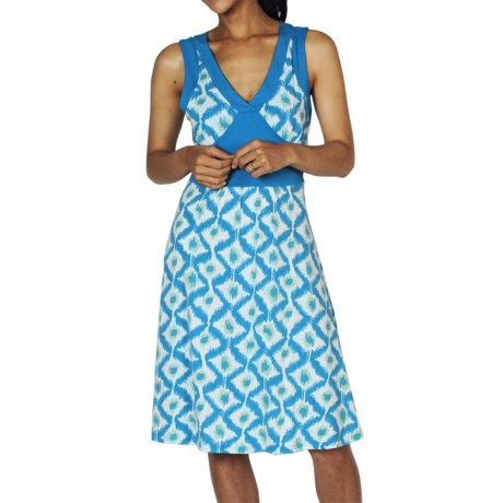 ExOfficio Go-To Crossback Diamond Print Dress - Sleeveless (For Women)