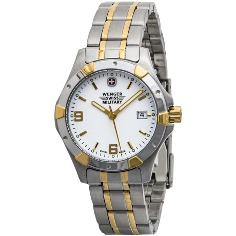 Wenger Standard Issue Two-Tone Watch - Stainless Steel and Gold Plate (For Women)