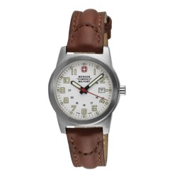 Wenger Swiss Military Classic Field Sport Watch - Leather Strap (For Women)