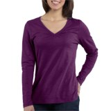 Carhartt Gathered V-Neck Shirt - Long Sleeve (For Women)