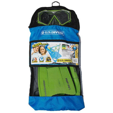U.S. Divers Molokai Mini Tonga Diving Set - 3-Piece (For Kids)