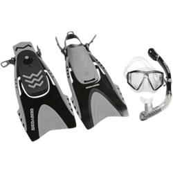 U.S. Divers 3-Piece Dive Set - Lux Mask, Phoenix Snorkel, Mystra Fins