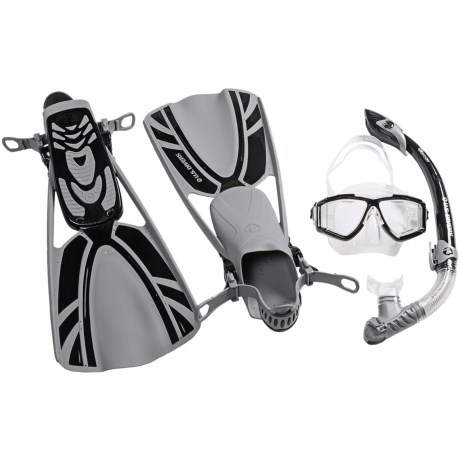 U.S. Divers 3-Piece Dive Set - Lux XP Mask, Atlantis Snorkel, Mystra Fins