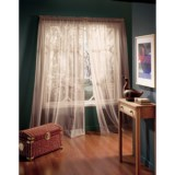 "Habitat High Twist Voile Wide-Panel Sheer Curtains - 110x84"", Rod-Pocket Top"