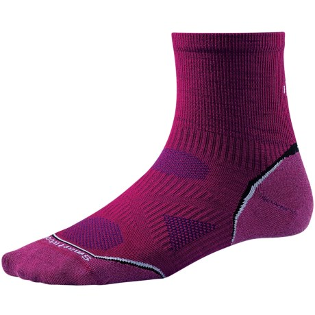SmartWool 2013 PhD Cycle Mini Socks - Merino Wool, Quarter-Crew, Ultralight (For Women)