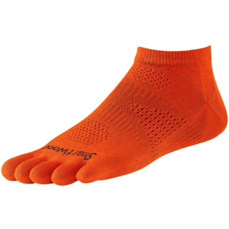 SmartWool PhD Run Toe Socks - Merino Wool, Ankle, Ultralight (For Men and Women)