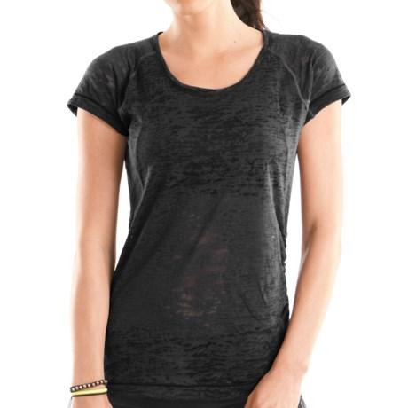Moving Comfort Flow Burnout T-Shirt - Short Sleeve (For Women)