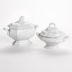 Two's Company Provence Porcelain Soup Tureens - Set of 2