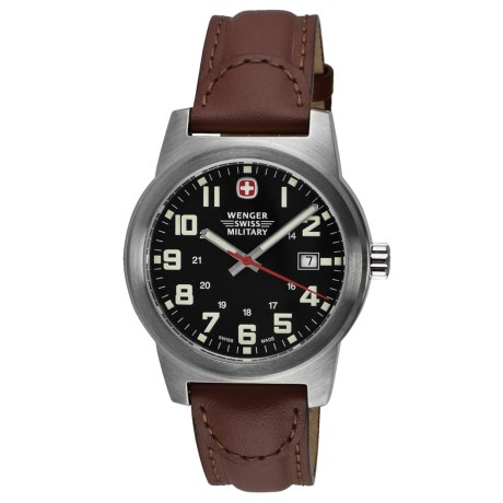 Wenger Classic Field Sport Watch - Leather Band (For Men)