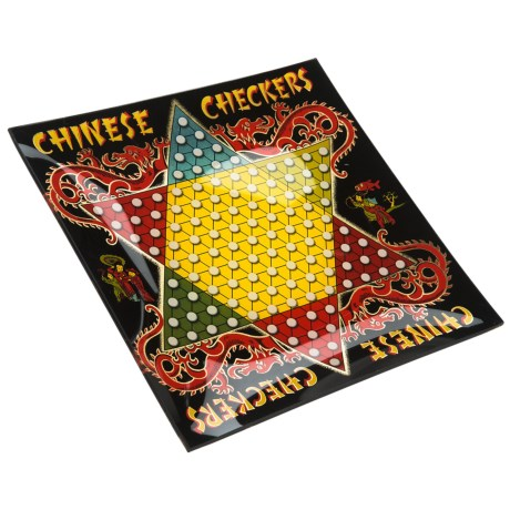 Two's Company Game Day Glass Serving Platter - Chinese Checkers