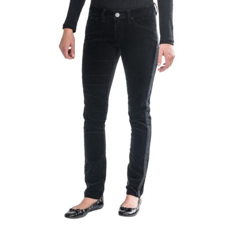 JAG Brielle Slim Tuxedo Pants - Velveteen (For Women)