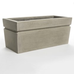 Viducci's Garden Riverside Park ISI Rectangle Planter - 39x17""