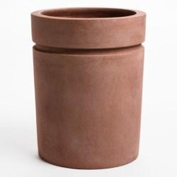 "Viducci's Garden Riverside Park Cylindrical Planter - 12x15"""