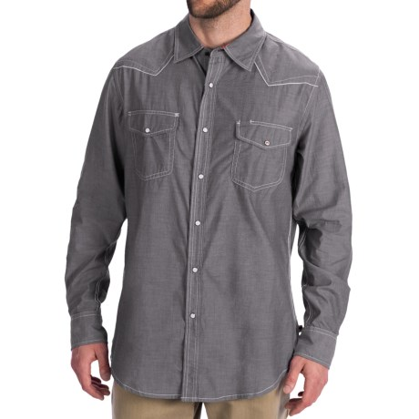 Dakota Grizzly Colby Western Shirt - Cotton Chambray, Long Sleeve (For Men)